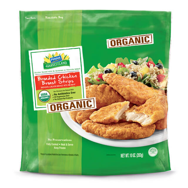PERDUE® HARVESTLAND® Organic Breaded Chicken Breast Strips