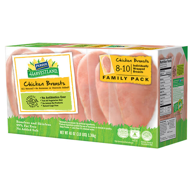 Frozen Boneless Skinless Chicken Breasts, Individually Wrapped (3 lbs.)