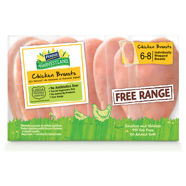 PERDUE® HARVESTLAND® Boneless Skinless Chicken Breasts, Individually Wrapped (2.25 lbs.)