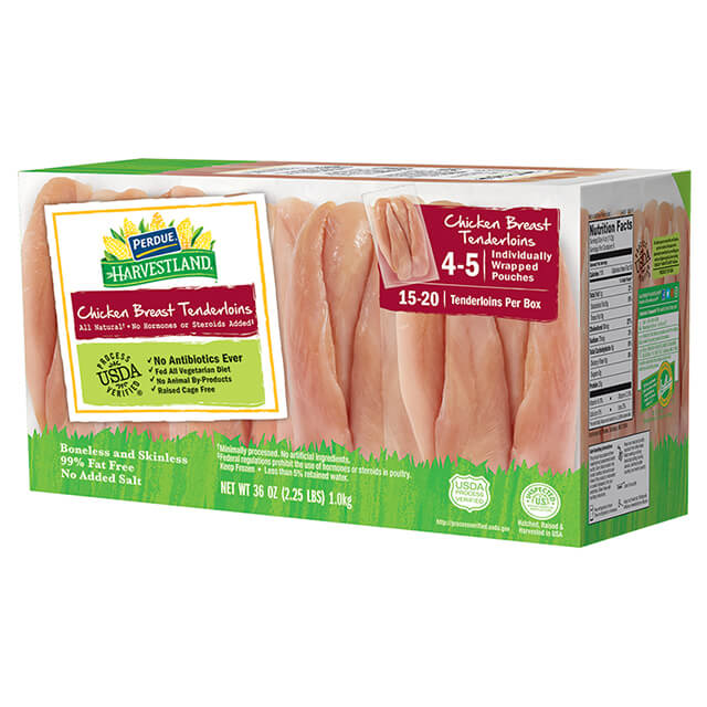 Boneless Skinless Chicken Breast Tenderloins, Individually Wrapped (2.25 lbs)