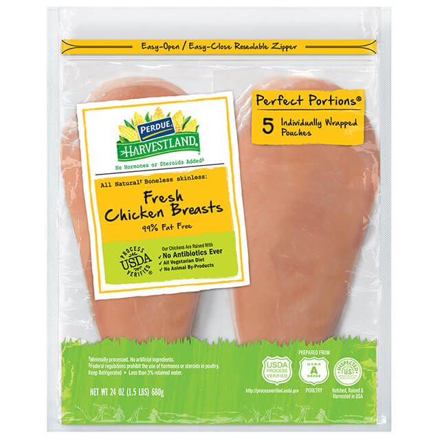 PERFECT PORTIONS® Boneless, Skinless Chicken Breast, Individually Wrapped, 1.50 lbs.