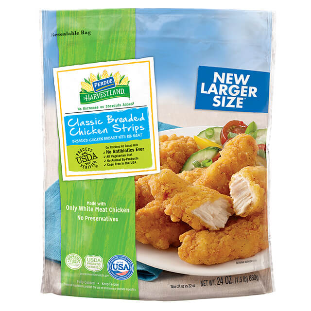 PERDUE® HARVESTLAND® Classic Breaded Chicken Breast Strips (24 oz.)