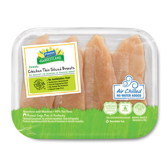 PERDUE® HARVESTLAND® Air Chilled Thin Sliced Boneless Skinless Chicken Breasts