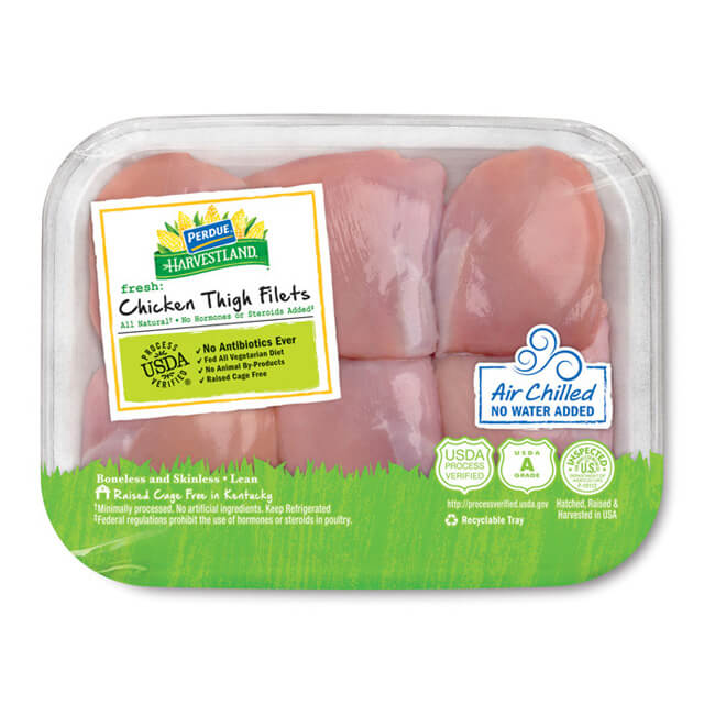 PERDUE® HARVESTLAND® Air Chilled Boneless Skinless Chicken Thighs