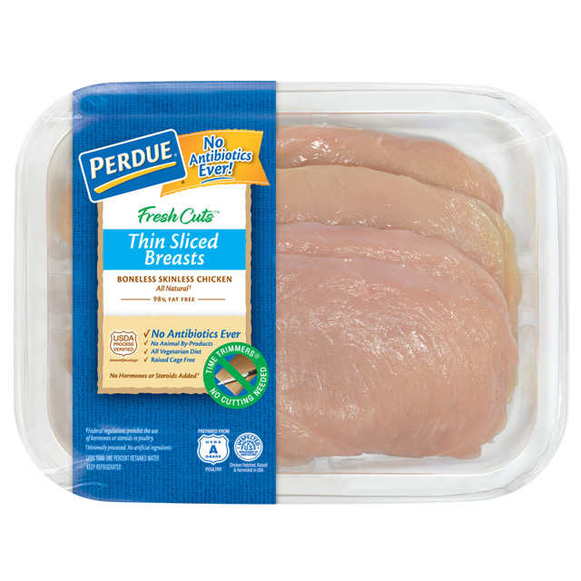 PERDUE® FRESH CUTS™ Thin Sliced Boneless, Skinless Chicken Breasts