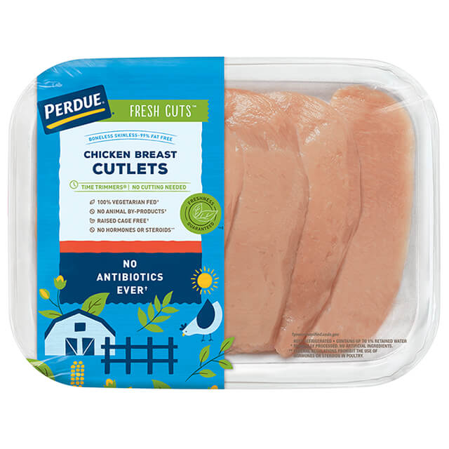 PERDUE® FRESH CUTS™ Fresh Chicken Breast Cutlets
