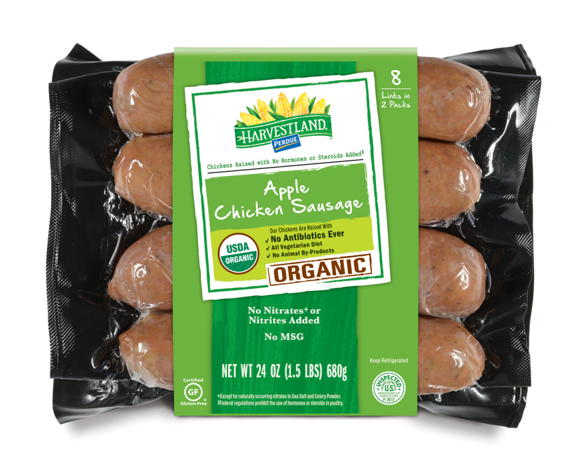 PERDUE® HARVESTLAND® Organic Chicken & Apple Sausage