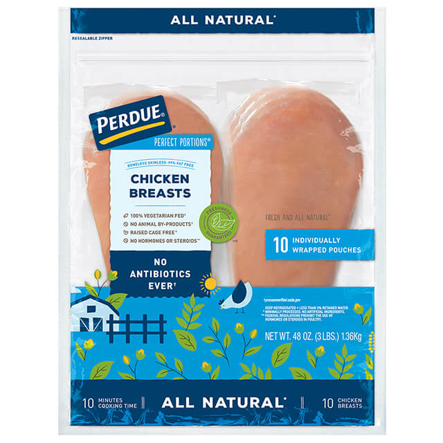 PERFECT PORTIONS® Boneless Skinless Chicken Breasts (3 lbs.)