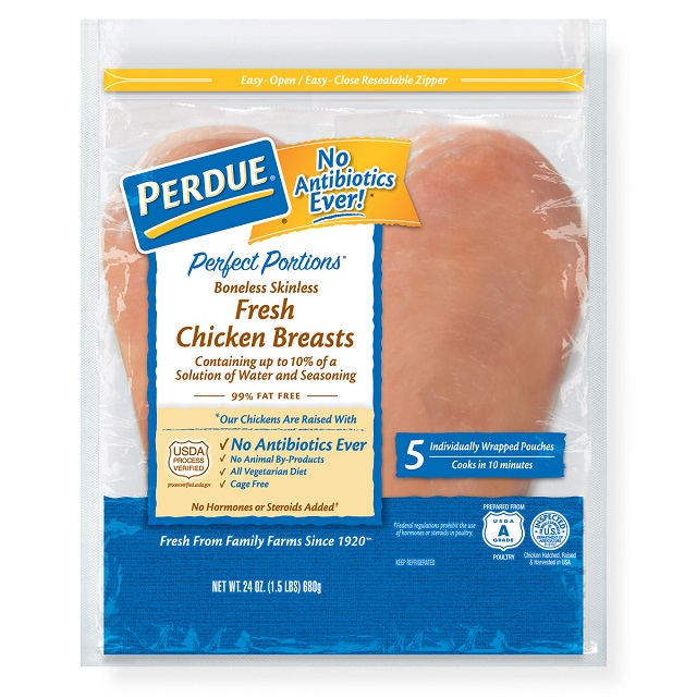 PERDUE® PERFECT PORTIONS® Boneless, Skinless Chicken Breasts (1.5 lbs.)