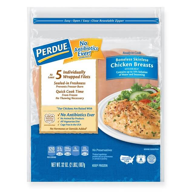 Perdue Boneless Skinless Chicken Breasts Individually Wrapped 2
