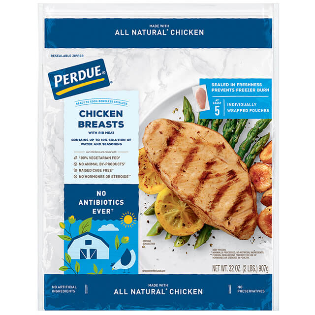 PERDUE® Boneless, Skinless Chicken Breasts, Individually Wrapped (2 lbs.)