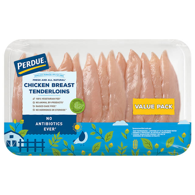 PERDUE® Boneless Skinless Chicken Breast Tenderloins, Value Pack