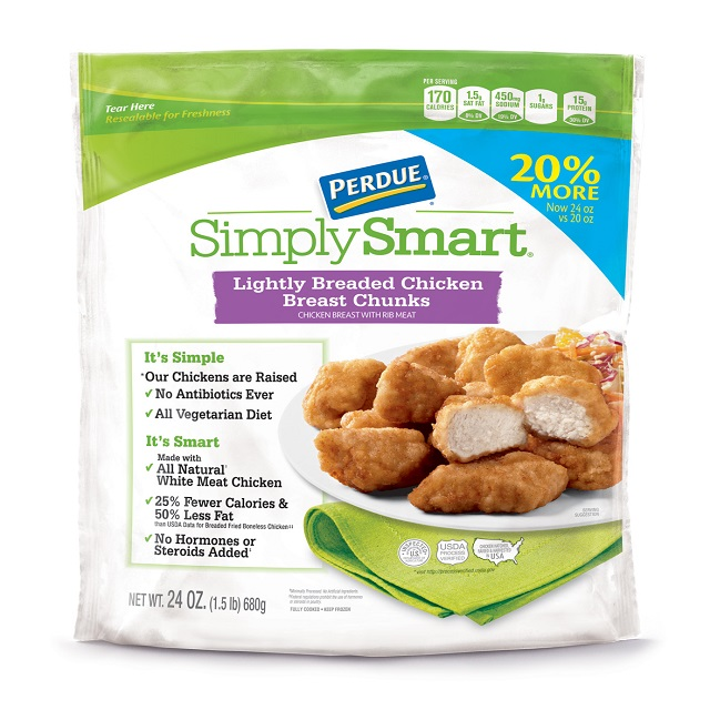 PERDUE® SIMPLY SMART® Lightly Breaded Chicken Chunks (24 oz.), Frozen