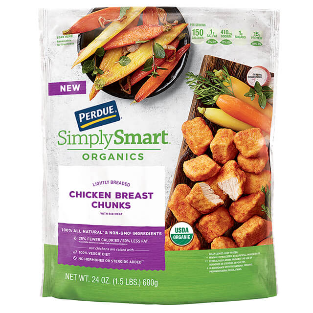PERDUE® SIMPLY SMART® ORGANICS Lightly Breaded Chicken Chunks (24 oz.)