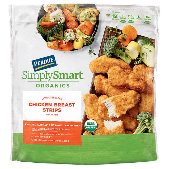 PERDUE® SIMPLY SMART® ORGANICS Lightly Breaded Chicken Strips (24 oz.)