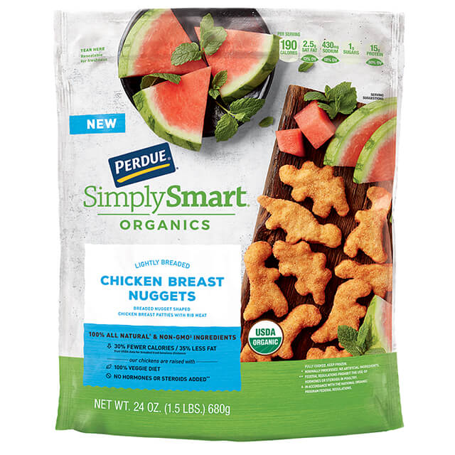 Perdue Simply Smart Organics Lightly Breaded Chicken Nuggets 24