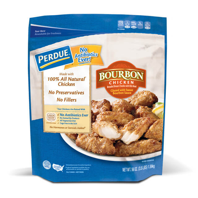 PERDUE® Breaded Chicken Breast Chunks, Bourbon Glazed (56 oz.)