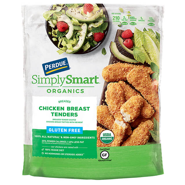 PERDUE® SIMPLY SMART® ORGANICS Breaded Chicken Breast Tenders, Gluten Free (22 oz.)