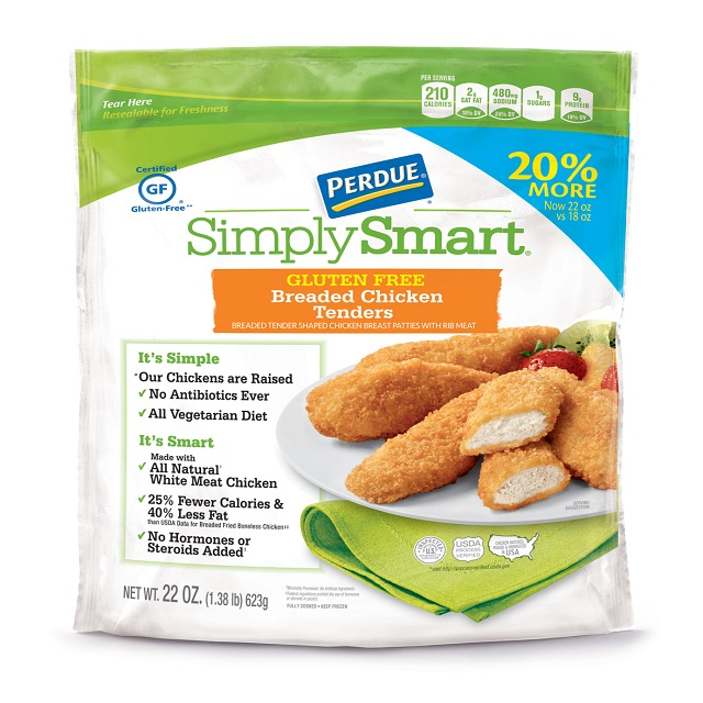 PERDUE® SIMPLY SMART® Breaded Chicken Breast Tenders, Gluten Free (22 oz.), Frozen