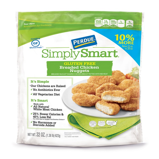PERDUE® SIMPLY SMART® Lightly Breaded Chicken Nuggets, Gluten Free (22 oz.) Frozen