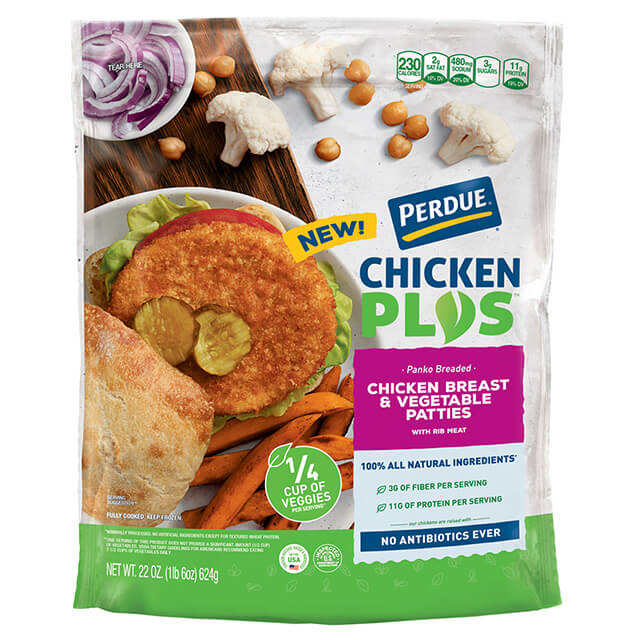 CHICKEN PLUS™ Chicken Breast & Vegetable Patties, 22 oz.