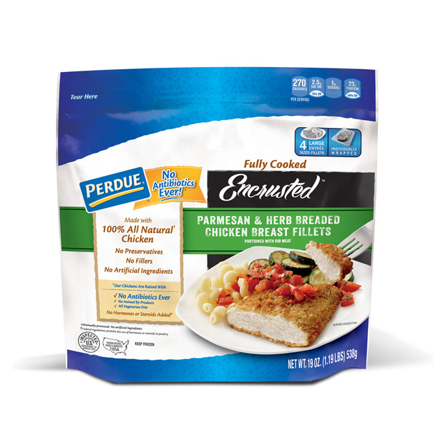 PERDUE® Encrusted Parmesan & Herb Breaded Chicken Breast Fillets (19 oz.)