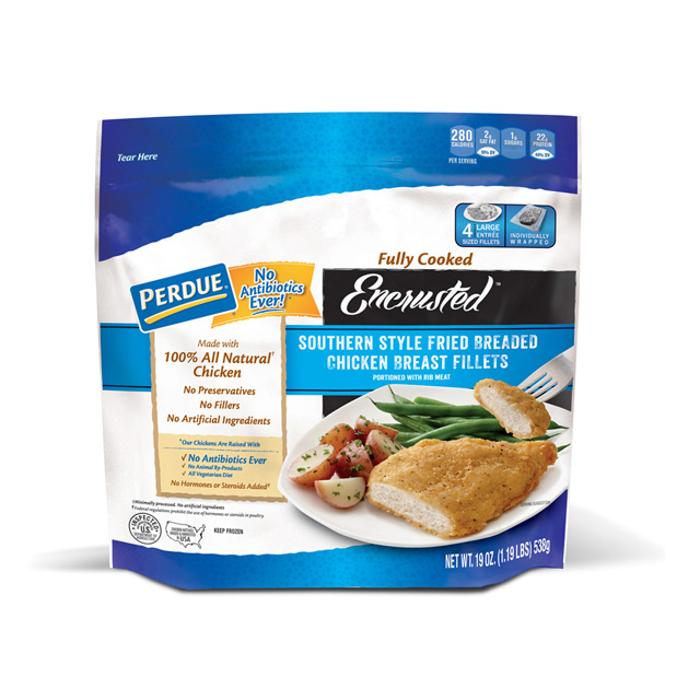 PERDUE® Encrusted Southern Style Fried Breaded Chicken Breast Fillets (19 oz.)
