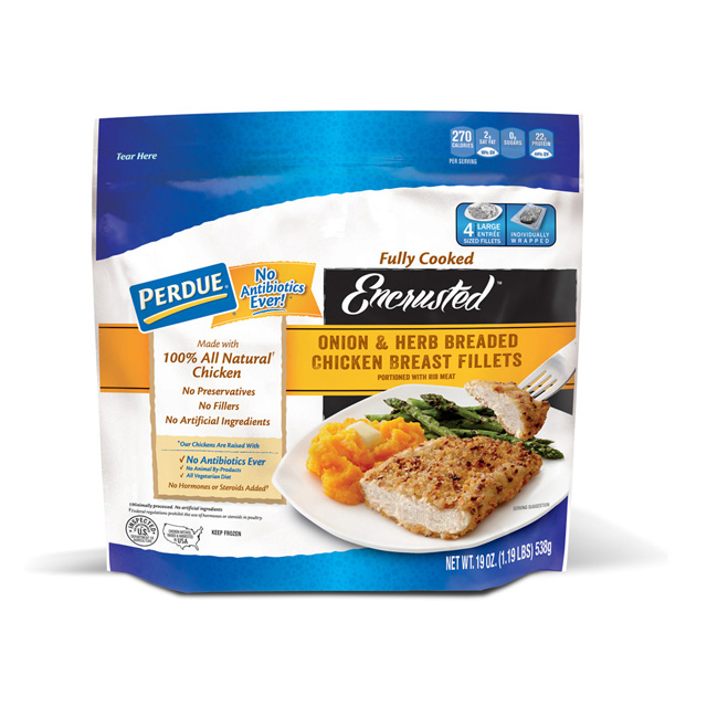 PERDUE® Encrusted Onion & Herb Breaded Chicken Breast Fillets (19 oz.)