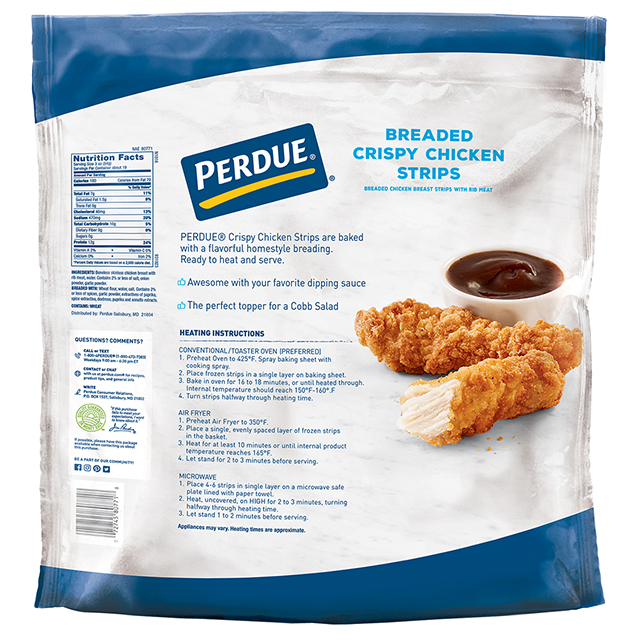 PERDUE® Frozen Breaded Crispy Chicken Strips, (56 oz.)