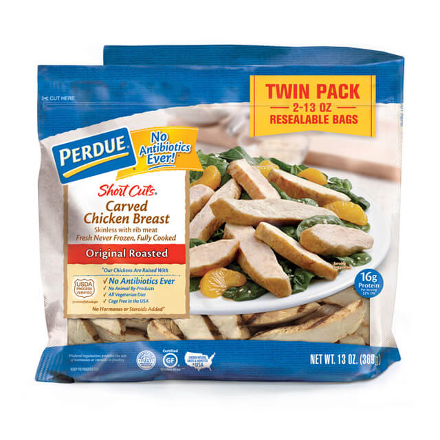 PERDUE® SHORT CUTS® Carved Chicken Breast, Original Roasted (26 oz.)