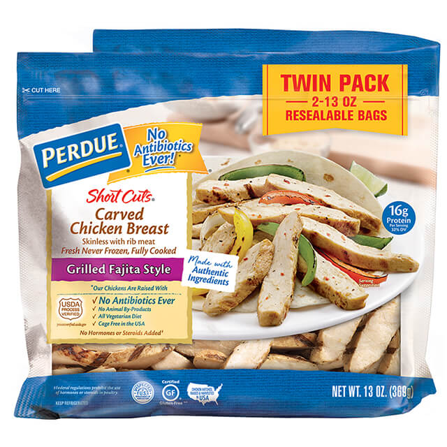 PERDUE® SHORT CUTS® Carved Chicken Breast, Grilled Fajita Style, (26 oz.)