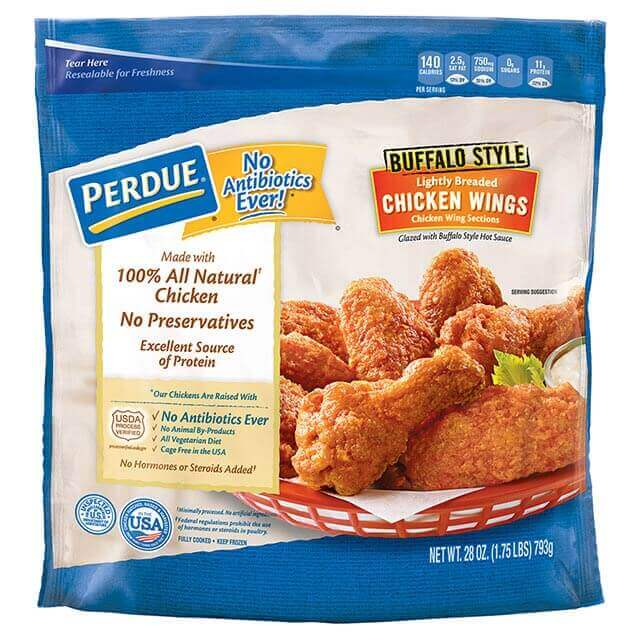 PERDUE® Lightly Breaded Chicken Wings, Buffalo Style (28 oz.)
