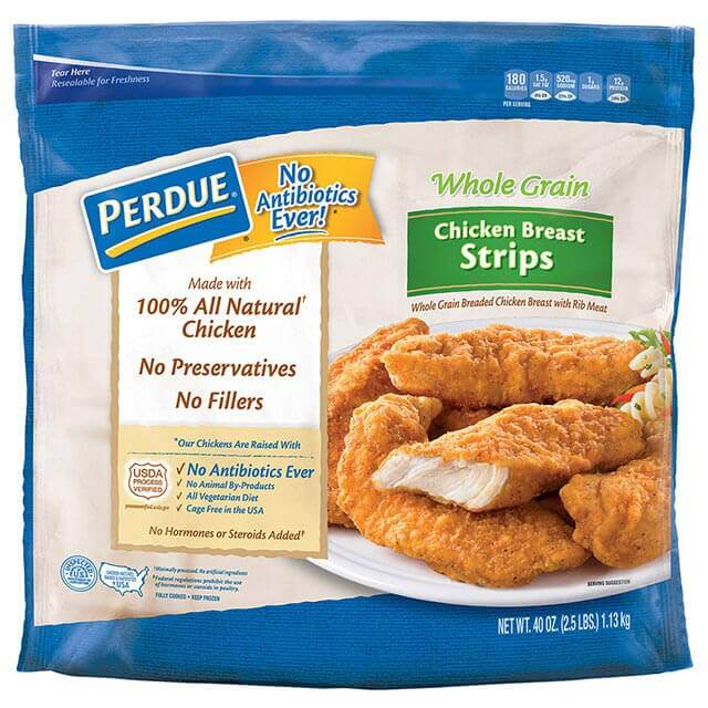 PERDUE Whole Grain Breaded Chicken Breast Strips, for Clubs (40 oz.)