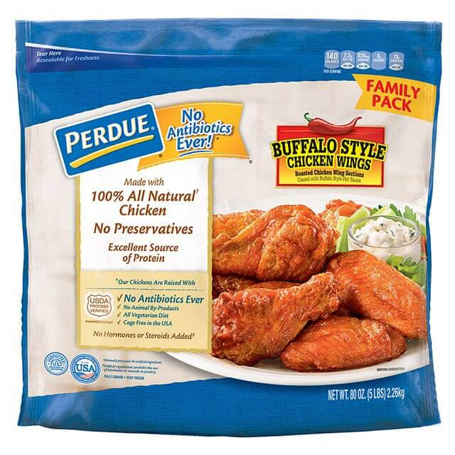 PERDUE® Buffalo Style Glazed Jumbo Wings (5 lbs.)