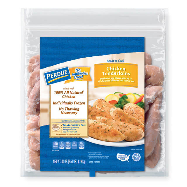 PERDUE® Individually Frozen Boneless Skinless Chicken Tenderloins (2.50 lbs.)