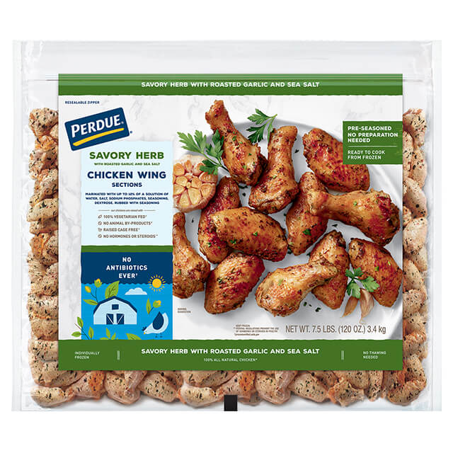 Perdue Individually Frozen Chicken Wings Savory Herb With Roasted