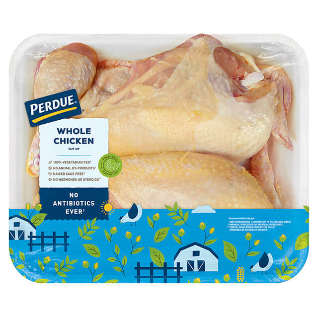 PERDUE® Fresh Whole Chicken, Cut-Up with Giblets