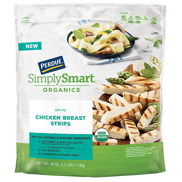 Perdue Simply Smart Organics Grilled Chicken Breast Strips 2 5 Lb