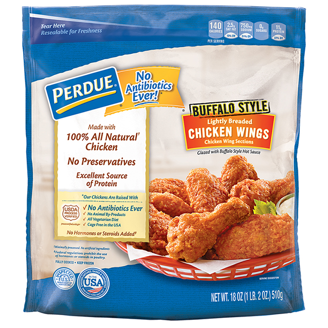 PERDUE® Lightly Breaded Chicken Wings, Buffalo Style (18 oz.)