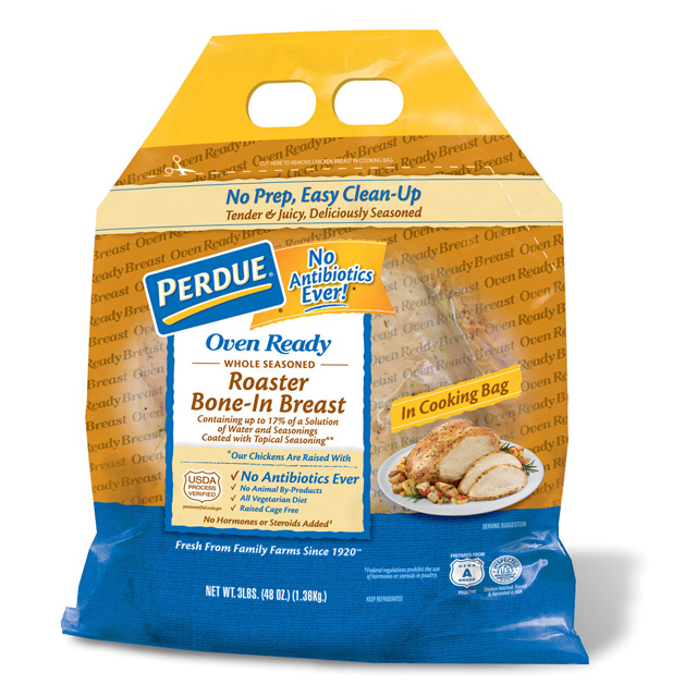 PERDUE® Oven Ready Whole Seasoned Roaster Bone-In Breast (3 lbs.)