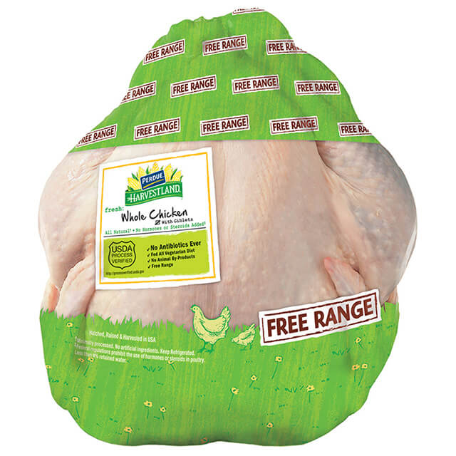 PERDUE® HARVESTLAND® Free Range Whole Chicken with Giblets