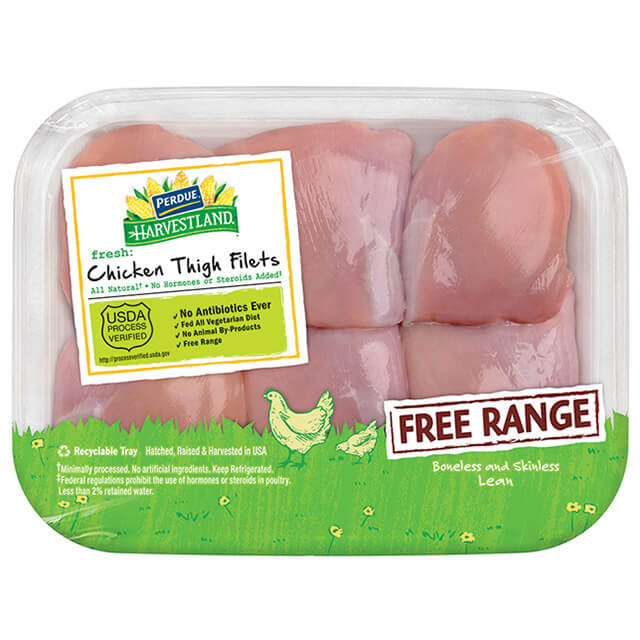 Free Range Boneless Skinless Chicken Thighs