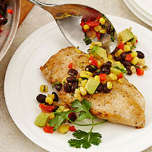 Sautéed Chicken and Black Bean Salsa