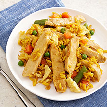 Chicken Stir Fry and Yellow Rice