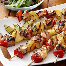 Kona Pineapple Chicken Kebabs