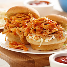 Pressure Cooker BBQ Chicken Sliders