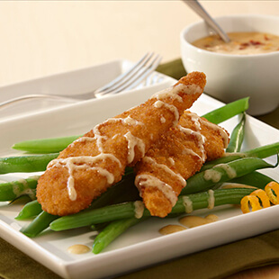 Crispy Chicken with Orange Mustard Sauce