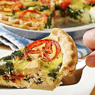 Fluffy Quiche with Chicken