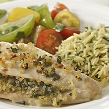 Basil Stuffed Chicken Breasts