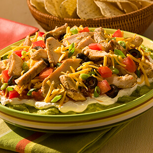 Lightened Up 7 Layer Southwest Chicken Dip